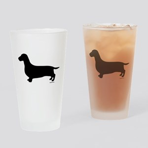 Dachshund Silhouette Pint Glass